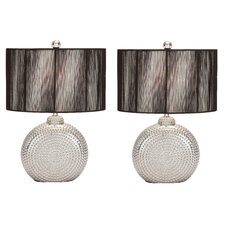 "Arati VIII 22"" H Table Lamp with Drum Shade (Set of 2)"