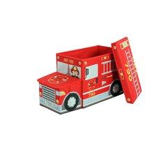 Greenway Children's Fire Truck Storage Ottoman