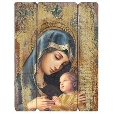 Madonna And Child Panel Wall Décor