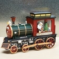 Musical LED Train with Santa Figurine