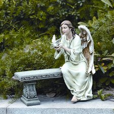 Memorial Angel Seated Statue