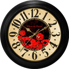 "Decorative Home 18"" Poppy Dial Wall Clock"