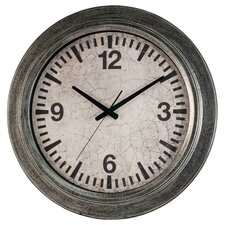 "Classic Home 22"" Galvanized Wall Clock"