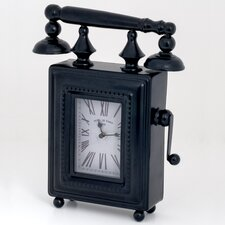 Phone Shaped Metal Case Table Clock