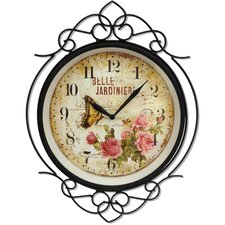 "Bella Jardiniere 15"" Quartz Wall Clock"