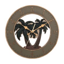 "13.5"" Palm Tree Wall Clock"