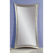 "Concave Silver Leaf ""Leaner"" Mirror"