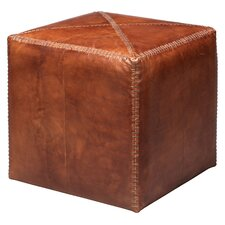 Small Leather Cube Ottoman