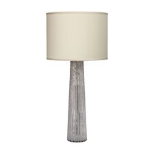 "Striped Pillar 38"" H Table Lamp with Drum Shade"