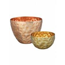 Dash 2 Piece Hammered Bowl Set