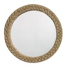 Jute Round Braided Mirror