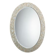 Oval Mother of Pearl Mirror