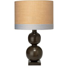 """Double Ball 31"""" H Table Lamp with Drum Shade"""