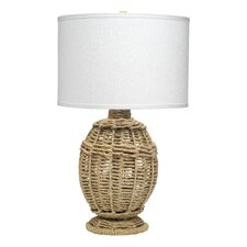 """Jute Urn Small 25.5"""" H Table Lamp with Drum Shade"""