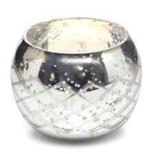 Champagne Etched Glass Diamond Shaped Votive (Set of 2)