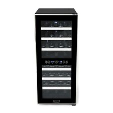 24 Bottle Dual Zone Freestanding Wine Refrigerator