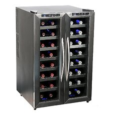 32 Bottle Dual Zone Freestanding Wine Refrigerator