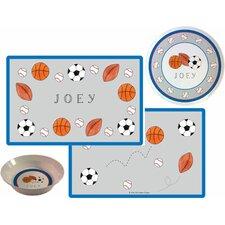 The Kids Tabletop 3 Piece Sports Fan Placemat Set