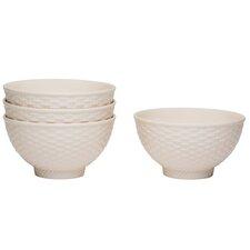 Nantucket 20 oz. White Bowl (Set of 4)