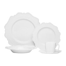 Pinpoint White 5 Piece Place Setting