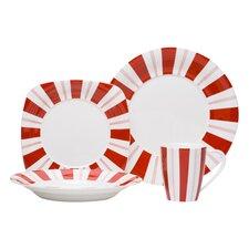 Tuxedo Rouge 16 Piece Dinnerware Set