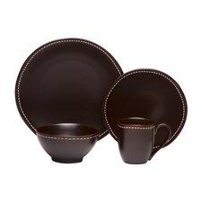Saddle Stitch 16 Piece Dinnerware Set
