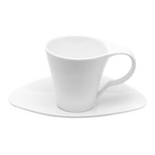 Vanilla Fare Espresso 3 oz. Cup and Saucer (Set of 6)
