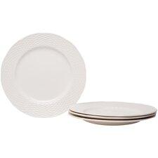 """Nantucket White 11.25"""" Set of 4 Dinner Plates (Set of 4)"""
