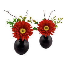 "Gerbera 6.75"" x 5"" Flower Arrangement (Set of 2)"