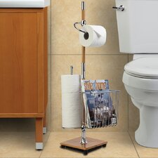 Free Standing RichWood Bamboo Toilet Caddy