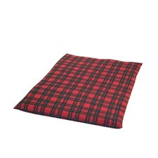 Royal Stewart Tartan Dog Duvet Cover in Black and Red