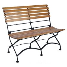 African Teak Folding 2-Seat Bench without Arms
