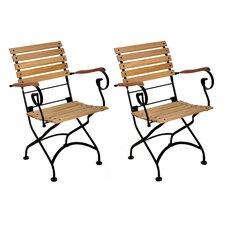 European Grande Café Folding Dinning Arm Chair (Set of 2)