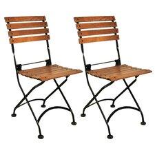 European Café Folding Side Chair (Set of 2)