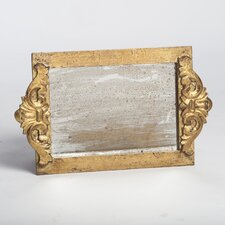 Vanity Tray with Faux Antique Mirror Surface