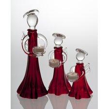 Holiday Angel Ruby Glass Votive