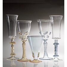 Ophelia 5 Piece Wine Glass and Champagne Flute Set (Set of 4)