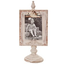 Shabby Elegance Clipboard Tabletop Picture Frame
