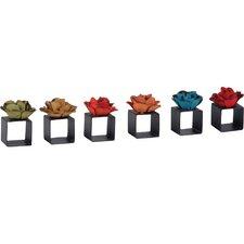 Rose Napkin Ring (Set of 6)