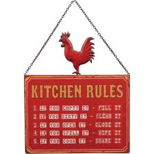 Kitchen Rules Wall Décor