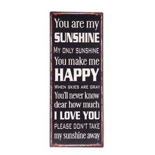You Sunshine Plaque