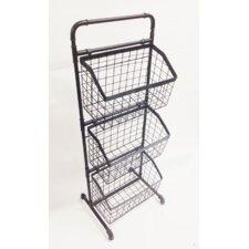 3 Tier Floor Stand Display Basket