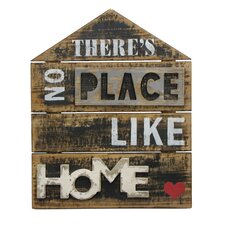 """""""There's No Place like Home"""" Textual Art Plaque"""
