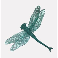 Aqua Mesh Dragonfly Wall Décor