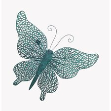 Aqua Mesh Butterfly Wall Décor