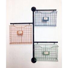 Store It Metal 3-Basket Wall File Organizer