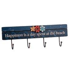 'Happiness...' 4 Wall Hooks