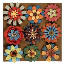 9 Piece Flower Magnet Wall Décor Set