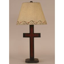 """Rustic Living Small Cross 27.5"""" H Accent Table Lamp with Empire Shade"""