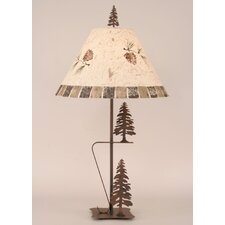 """Rustic Living Iron 33"""" H Table Lamp with Empire Shade"""